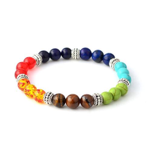Natural Stone 7 Chakra Fashion Jewelry Elastic Bracelet Beaded Bracelet Gift