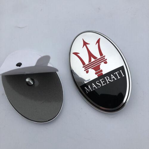 Maserati Quatrroporte,GT,Ghibli,Levante Front Bumper Emblem Black 1 PCS