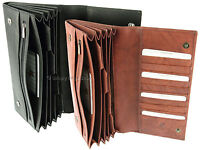 Visconti Family Size Leather Travel Wallet For Passports, Tickets, Cards - 1179