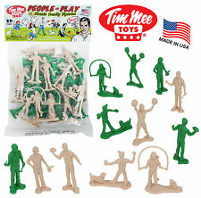 TimMee Processed Plastic PLAY PEOPLE: 24 Tim Mee Suburban Family Figures