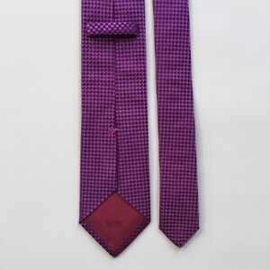 Hugo-boss-tie-l-59-034-w-3-034-pink-100-silk-made-in-Italy-necktie-pa0694
