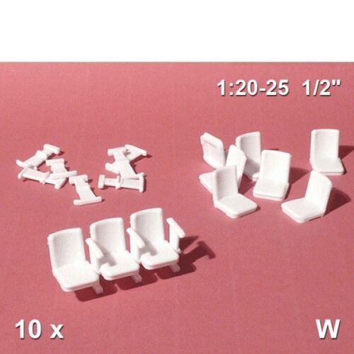 Théâtre fauteuil 1:25 Blanc 10 unités 57.10061.10 Schulcz