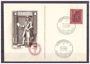 Rfa-Minr-365-Offiz-FDC-le-Vl-Esst-Nuremberg-Nurnberger-Messager-31-08-1961