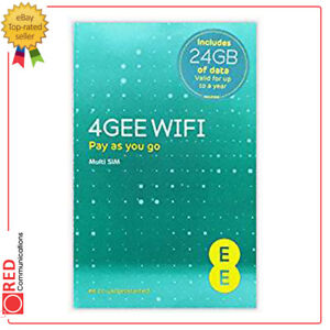 SûR Ee Multi Sim Inclut 24 Go De Données Valides Pour Un An Maximum (4gee Wifi)-afficher Le Titre D'origine