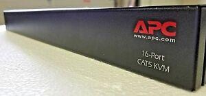 APC-16-Port-Analog-CAT5-KVM-Switch-AP5401-Rack-Mount-w-Power-Cord