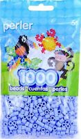 Bulk Buy: 5 X 1,000 Perler Blueberry Cream Color Iron On Fuse Beads 80-19093