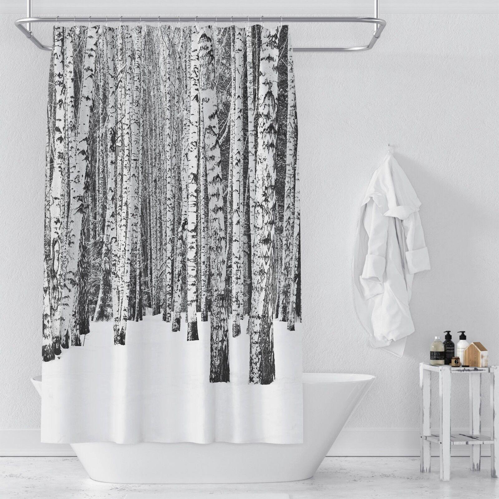 3D Schnee Baum 54 Duschvorhang Wasserdicht Wasserdicht Wasserdicht Faser Bad Daheim Windows Toilette DE 0ffb55