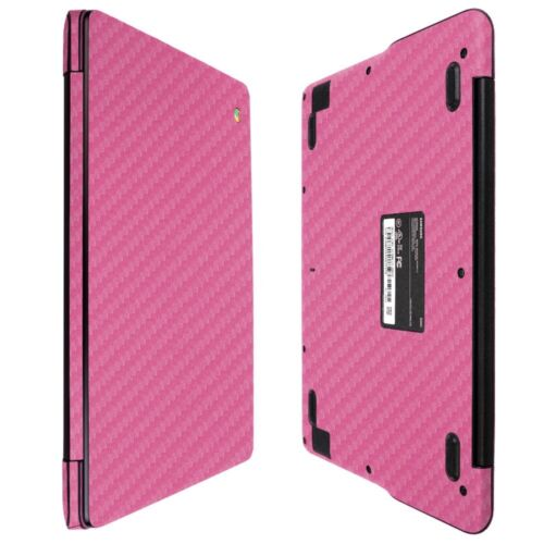 "Skinomi Pink Carbon Fiber Skin Protector For Samsung Chromebook 3 11.6/"""