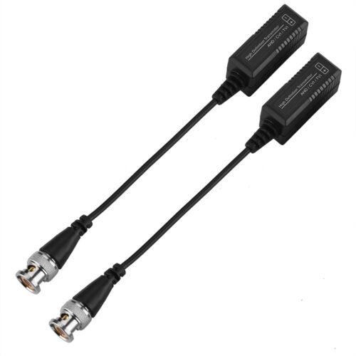 1 Pair HD Passive CCTV Coax BNC Video Power Balun Transceiver to RJ45 Connector