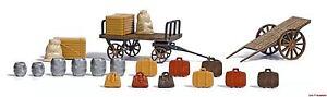 Adaptable H0 Bagages Chariots Busch 1625 Nouveau!!!-afficher Le Titre D'origine