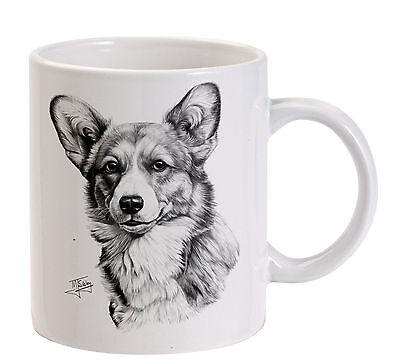Mike Sibley Corgi dog breed Printed White Tea Coffee Mug - dog lover gift