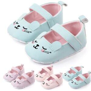 0-18M Newborn Cartoon Baby Boys Girls Pre-Walker Soft Sole Pram Shoes Trainers