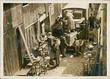 Paris 1943, marché aux Puces Vintage silver print Tirage argentique