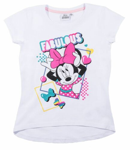 T Shirt Disney Minnie Mouse Girls Short Sleeve Tshirt Licensed Product