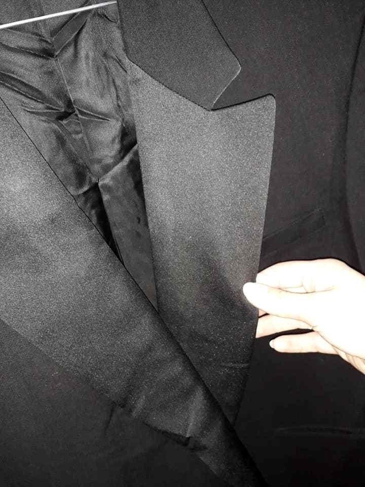 Smoking Abito men Elegante Sartoriale Completo black Bande laterali e seta 54