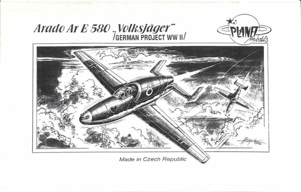 Arado Ar E 580 Volksjager (1 72 Kit de Modelismo, Planet Models 015)