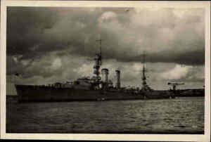 Militaria-Echtfoto-AK-1935-40-Reichsmarine-Kreuzer-EMDEN-Kriegsmarine-Marine