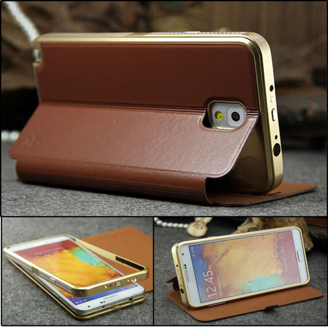 Luxury Aluminum Metal Carbon Fiber Cover Case For Samsung Galaxy Note 3 N9005