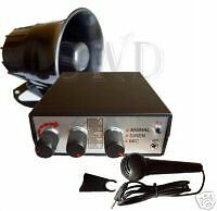 SIREN-bleeper-horn-ANIMAL-sounds-PA-car-boat-van-12V-LOUD-electronic-emergency