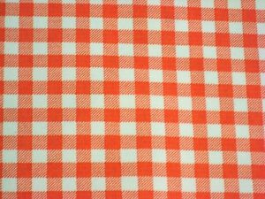 Genial Image Is Loading ORANGE GINGHAM CHECK RETRO WESTERN KITCHEN DINE OILCLOTH