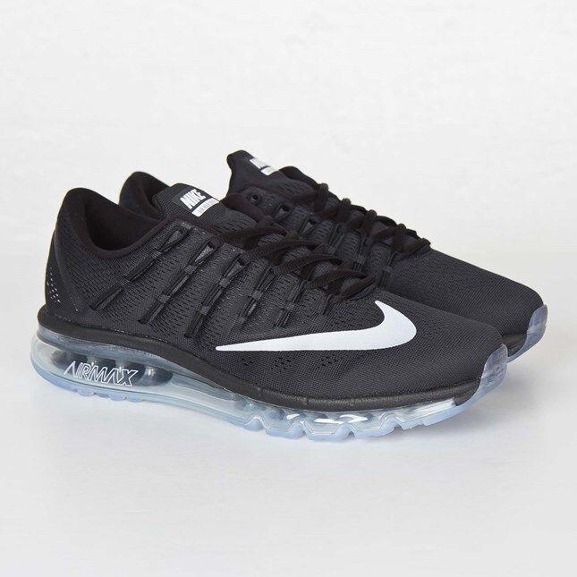 Nike Men's AIR MAX 2016 shoes AUTHENTIC Black White-Dark Grey 806771-001 Size 9.5