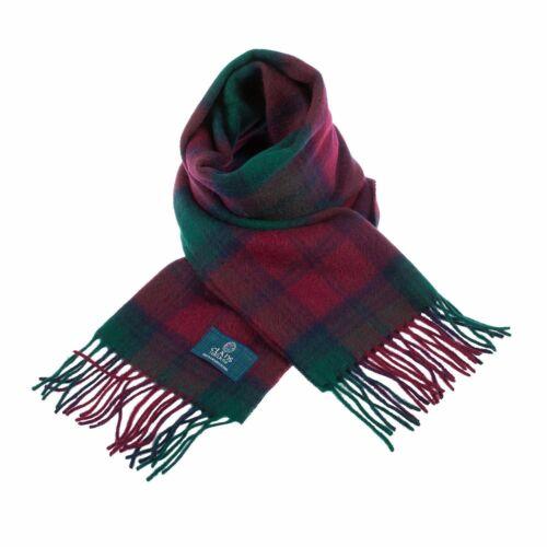 Écossais 100/% authentique laine Lindsay Tartan Clan Écharpe Nouveau