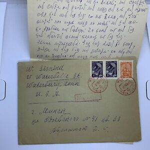 1966 MINSK SOVIET UNION RUSSIA COVER WITH LETTER, RED CANCELS