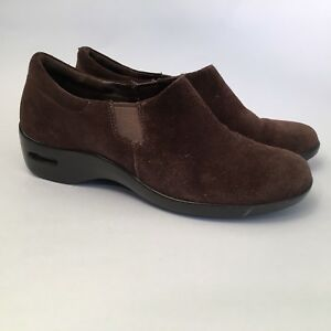 126ad447606 Cole Haan Air Women s Suede Slip-on Wedges Brown Size 8 B Good ...