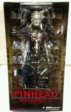 "MEZCO HELLRAISER lll HELL ON EARTH 12"" PINHEAD FIGURE CASE FRESH!"