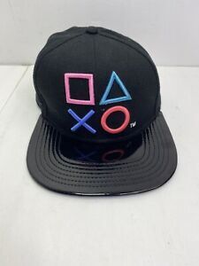 PLAYSTATION AND PS FAMILY LOGO BLACK Snapback Hat Cap 2018