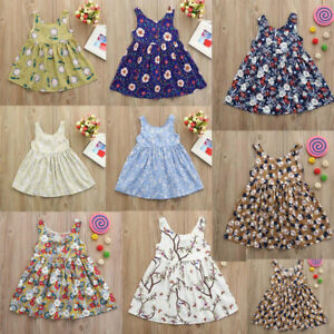 Toddler-Baby-Kids-Girls-Floral-Print-Backless-Casual-Princess-Dress-Clothes