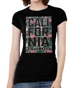 Womens-Cali-Floral-Short-Sleeve-T-Shirt