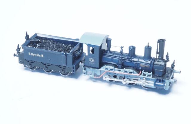 Railex Z-scale Tristan Klasse B VI Royal Bavarian RR Blue / black livery BRASS