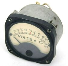 Vintage Weston Volts Alternating Current Meter Gauge 0 100 Model 841 Type 20