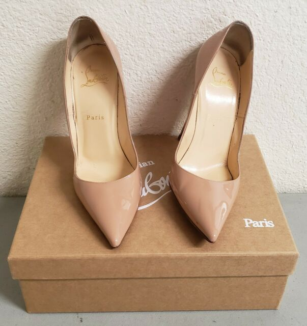 CHRISTIAN LOUBOUTIN Patent So Kate 120 Pumps 36 Nude
