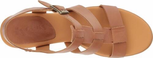 KORKS-Ease Cornelia Leather Block Heel Sandals Brown Sz 11