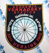 PATCH AKADEMIK VERNADSKY STATION 2011 UKRAINE 2012 ANTARCTIC GALINDEZ ISLAND