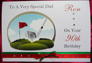 Image Is Loading Personalised Handmade A5 Birthday Card Golf 30th 40th