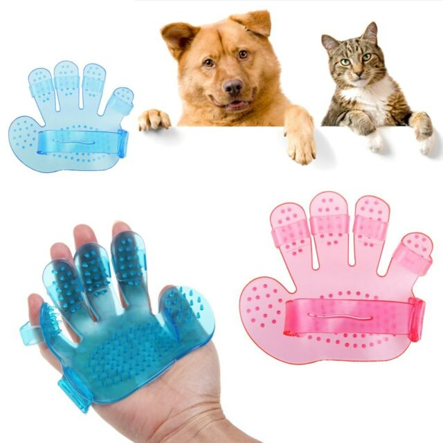 DOG CAT PET HAIR REMOVAL HORSE GROOMING MIT GLOVE FUR WASHING MASSAGE BRUSH HAND