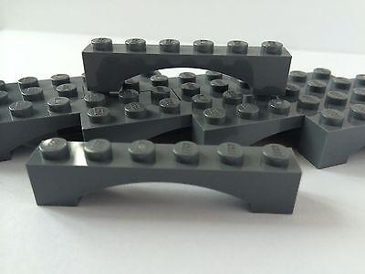 Lego 50 New Dark Bluish Gray Bricks Castle Arches 1 x 3 Pieces