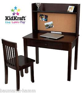 Secrétaire de bureau Kidkraft, y compris la chaise d'essai pour tableau d'affichage Espresso 27150