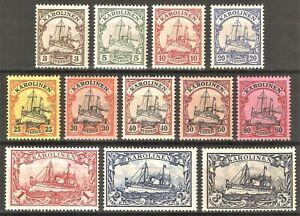 DR-Colonie-Dt-KAROLINEN-Reich-Rare-WW1-Stamp-1901-Kaiser-Yacht-Ship-Service