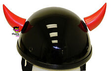 Helmet Horns Devil Red Stick On Horns For Motorcycle Bike Ski Snowboard Helmet
