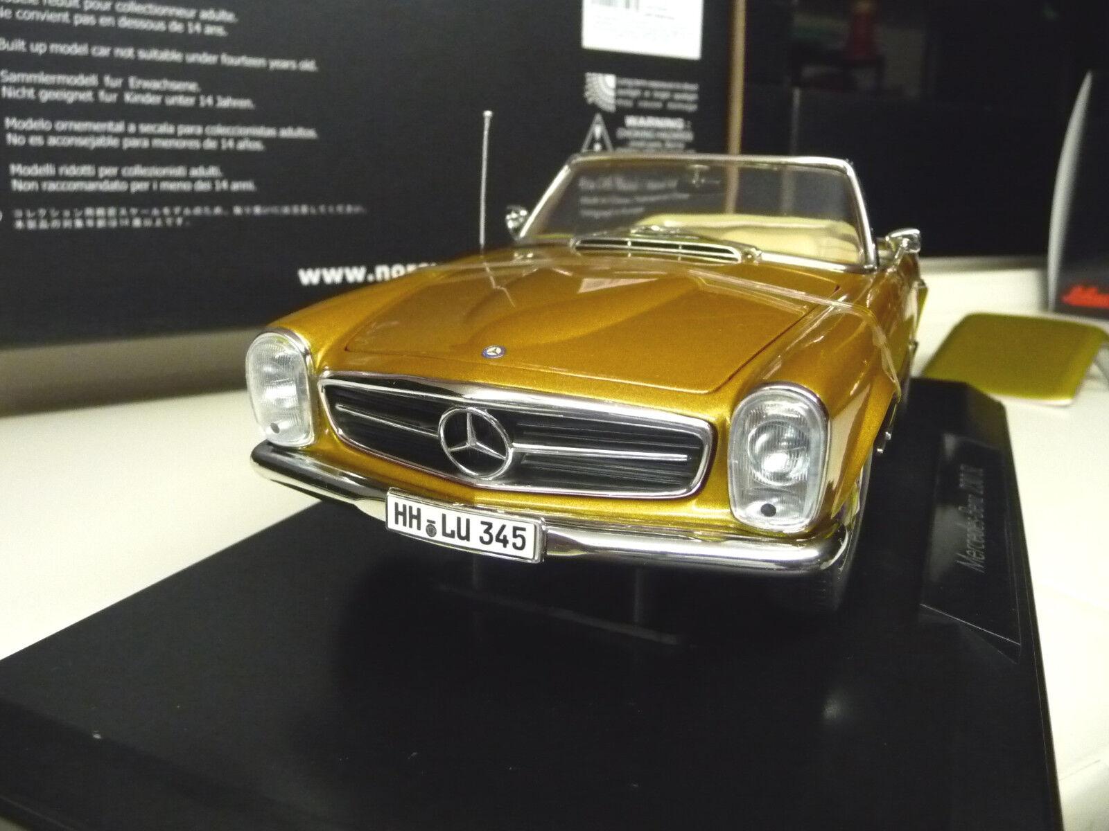 Mercedes 230SL 280SL ConGrünible W113 Gold Hardtop Norev 1 18 NEW FREE SHIPPING