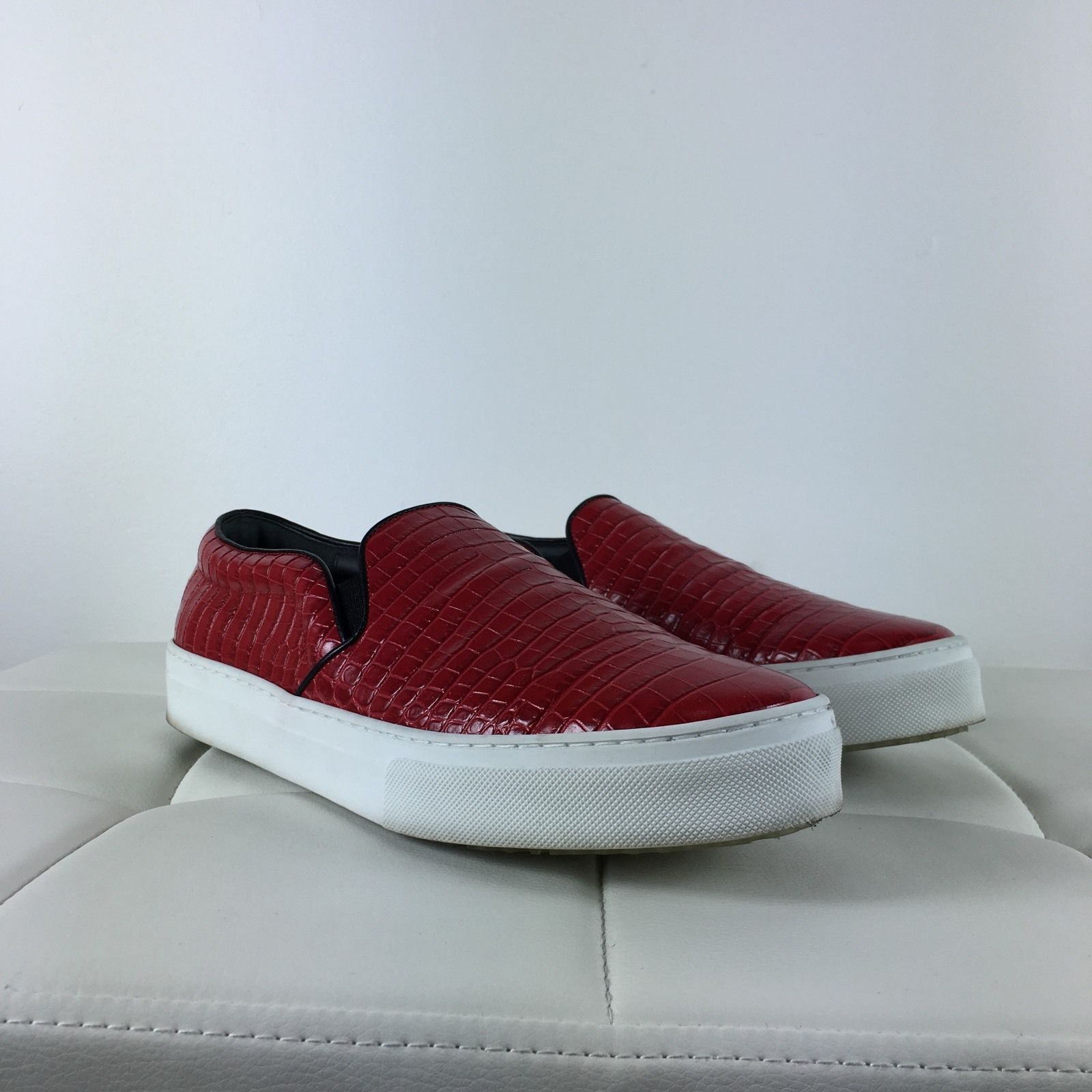 PRE-OWNED - Celine Slip-On Sneaker Bright Red Red Red Leather - EU 42 82f77d