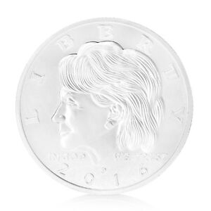 Silvery Hillary Clinton In God We Trust Commemorative Challenge Coin Gifts