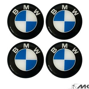 4x-68mm-Top-in-lega-BMW-Emblema-Auto-Copertura-Centrale-Ruota-HUB-Tappo-Si-Adatta-BMW