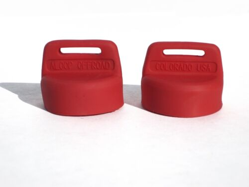 All Polaris Sportsman ATV/'s 1999-later 2 Pack Red Silicone Rubber Ign Key Cover