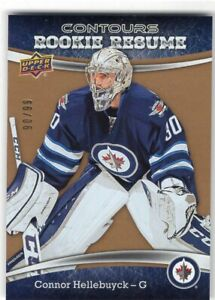 2015-16-UPPER-DECK-CONTOURS-GOLD-ROOKIE-RC-CARD-99-CONNOR-HELLEBUYCK-JETS