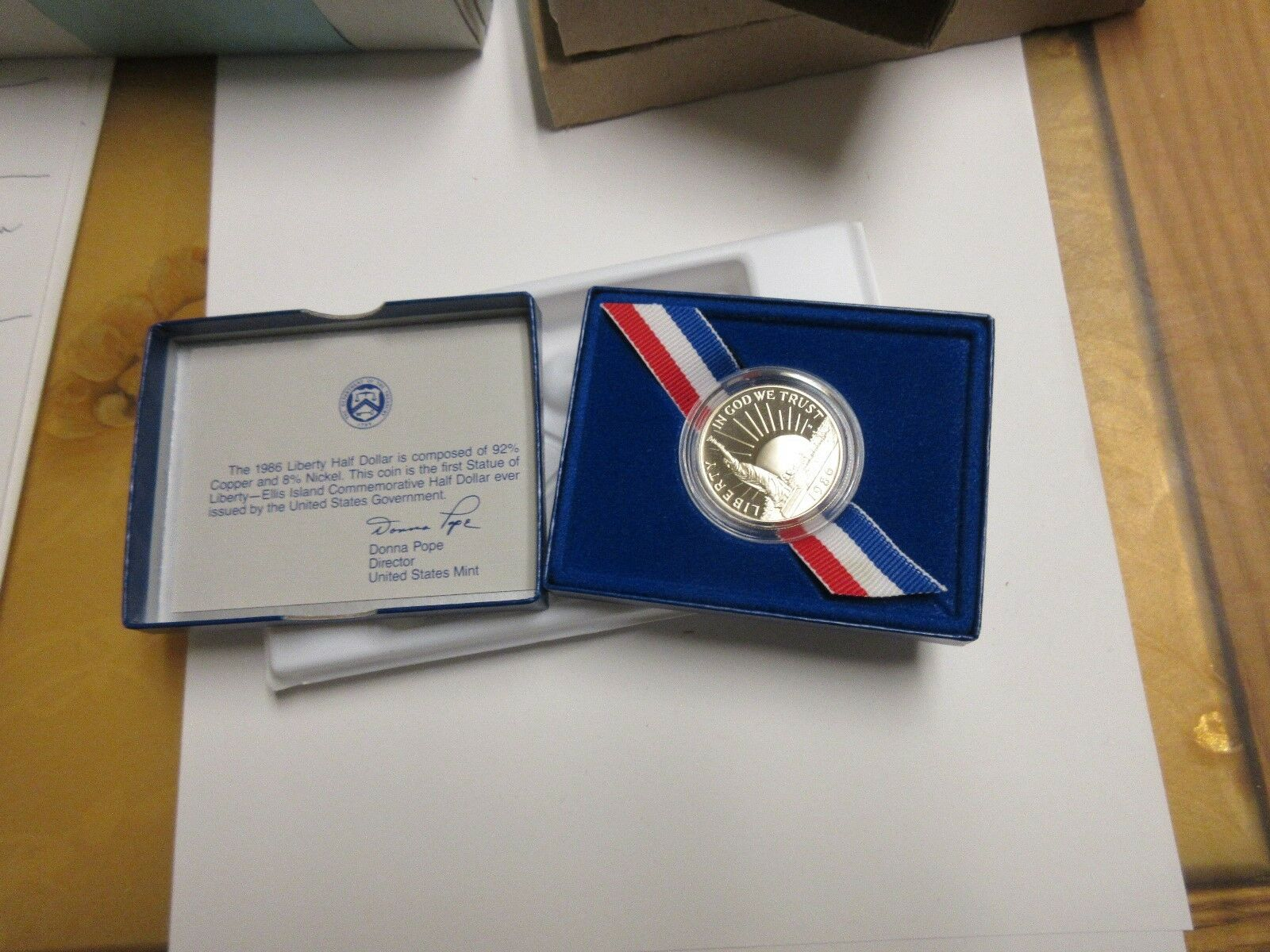 "1986 United States Mint ""Liberty Coin"" Half-Dollar Proo"